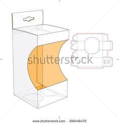 Box with Shelf Hanging Holes and Die cut Layout - koop deze vector op Shutterstock en vind andere afbeeldingen. Toy Packaging, Cardboard Packaging, Packaging Design, Cardboard Design, Book Creator, Box Shelves, Diy Gifts For Friends, Tag Design, En Stock