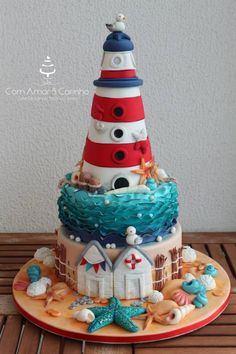 Lighthouse Nautical Cake | Cake Decor