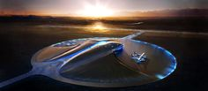 Spaceport America facility designed by world renowned, UK based Foster + Partners | New Mexico,USA.