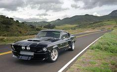クラシック - レクリエーション - シェルビー -  GT500CR毒フォード、ブラック、シルバー、自動車、高速で、シェルビー、マスタング、筋肉、GT500の