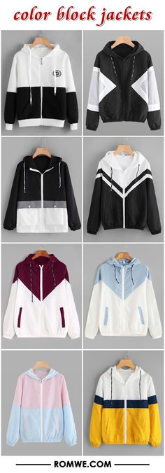 color block jackets 2017 - romwe.com