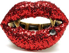 Betsey Johnson Vampire Red Lips Ring  Iron Fist Clothing inspiration
