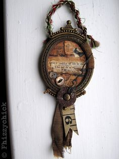 Declutter And Style And Design For Put Up-Spring Crack Homeschool Good Results Could Do This Type Of Thing Using A Small Frame As A Pendant For A Necklace Live Your Life Quote Frame. Through Etsy. Kirigami, Living Your Life Quotes, Mix Media, Shabby, Found Object Art, Find Objects, Assemblage Art, Textiles, Jewelry Art