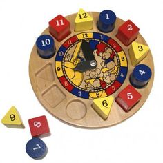 Hickory Dickory Dock Clock Wooden Toy Made in US by Holgate - Hickory Dickory Dock Clock Wooden Toy Made in US by Holgate Holgate has been making toys since and is truly a national treasure. Infant Activities, Activities For Kids, Toddler Clock, Teaching Clock, Hickory Dickory Dock, Classic Nursery Rhymes, Classic Clocks, How To Make Toys, Games