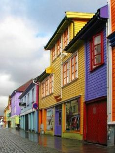 Panoramio - Photos of the World, Rainbow Street in Stavanger Norway. Stavanger is my birth city. I didn't know about this rainbow street. Places Around The World, The Places Youll Go, Travel Around The World, Places To Go, Around The Worlds, Oslo, Stavanger Norway, Trondheim, Bergen