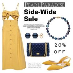 """Site-Wide Sale 20% OFF"" by pearlparadise ❤ liked on Polyvore featuring Sea, New York, Paul Andrew and Chanel"
