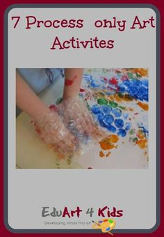 Here are 7 process only art activities that you can do with toddlers or other yo… – Lauren Brady – art therapy activities Family Therapy Activities, Art Activities For Toddlers, Painting Activities, Creative Thinking Skills, Creative Class, Creative Kids, Summer Art Projects, Toddler Art Projects, Family Collage