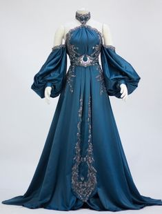 Use this for a moon goddess costume Ball Dresses, Cute Dresses, Beautiful Dresses, Ball Gowns, Old Fashion Dresses, Fashion Outfits, Dress Fashion, Kleidung Design, Fantasy Gowns