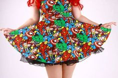Marvel Heroes Dress by 1138Clothing on Etsy