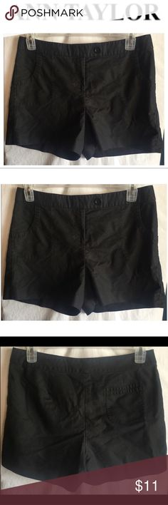 """Womens Ann Taylor Black Bermuda Shorts Size 10 Womens Ann Taylor Black Bermuda Shorts Size 10  Style # 119929  Measurements- Waist: 34"""" Rise: 11"""" Inseam: 4""""    Customer service is my #1 priority! I strive to not only meet, but to exceed the standard. If for any reason you are unhappy with your order, I will make it right!    Thank you for supporting small business! Ann Taylor Shorts"""