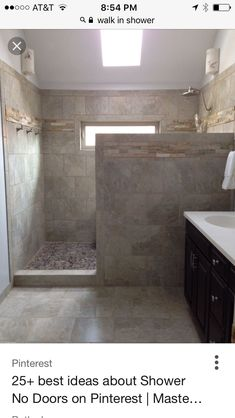 Liked the tile layout here and the use of the border on the exterior side of the shower.