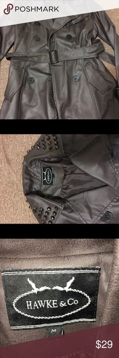 Jacket Nice studded jacket I barely use it. It's in excelente condition! Hawk & Co Jackets & Coats Trench Coats