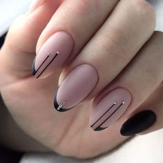 65 Gorgeous Almond Matte Nail Designs You'll Love Almond matte nails can be seen everywhere in the street. They are one of the most popular nail shapes. This nail shape is named Square Nail Designs, Black Nail Designs, Nail Art Designs, Stiletto Nail Designs, Fancy Nails Designs, Fancy Nail Art, Classy Nails, Stylish Nails, Hair And Nails