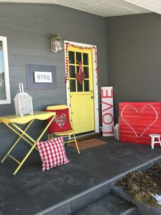marquee light porch