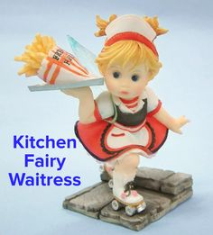Kitchen Fairy on roller skates PVC