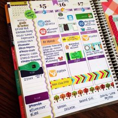 Cute #ErinCondren planner layout! Love all the little stickers.