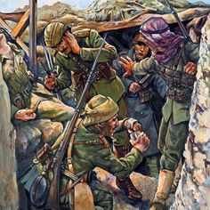 Ottoman troops in Gallipoli, November 1915 Military Diorama, Military Art, Military History, Turkish Soldiers, Turkish Army, Fun World, World War One, Ww1 Art, Ww1 Photos