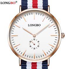 Luxury Brand LONGBO Watches Men Fashion Casual Sport Clock Classical Nylon Male Quartz Wrist Watch Relogio Masculino Feminino #Affiliate