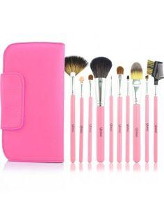 High Quality Pink Makeup Brush Set $44.91