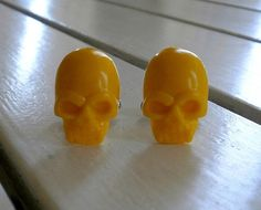 Yellow Skull Cufflinks Gifts for Guys Boyfriends by BijHotGallery