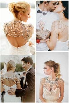 Wedding Trends 2016 - Striking Shoulder Jewellery
