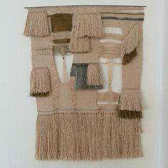 Free style hand weaving.  Wall hanging no 3 by Fault Lines