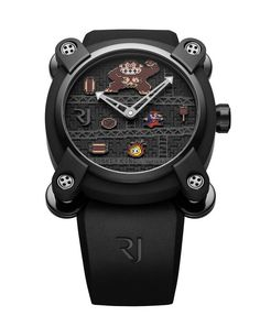 Romain Jerome who recently brought us the Space Invaders inspired timepieces has just unveiled 4 new limited edition Pac Man inspired watches. A must have for fans of the popular arcade game, this one is our personal favourite Men's Watches, Luxury Watches, Cool Watches, Watches For Men, Unique Watches, Amazing Watches, Elegant Watches, Stylish Watches, Vintage Watches