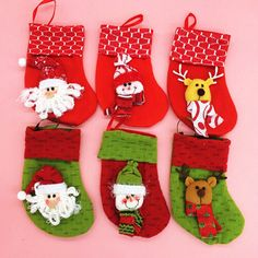 Merry Sweet Christmas Decoration Santa Gift Bags Socks Decor Storage Candy Diet Tools Christmas