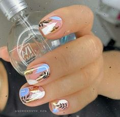 Stylish Nails, Trendy Nails, Cute Acrylic Nails, Gel Nails, Nail Polish, Gel Nail Art, Shellac, Snow Nails, Subtle Nails
