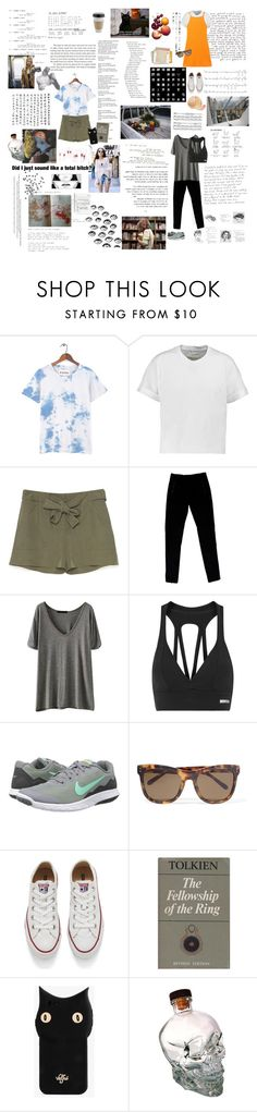 """Close your eyes."" by the-clary-project ❤ liked on Polyvore featuring rag & bone, Joseph, Bodyism, NIKE, Linda Farrow, Converse, Valfré and OUTRAGE"