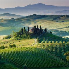 Benvenuti in Italia!: Val d'Orcia, Toscana