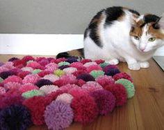 Pompom-Teppich selber knüpfen