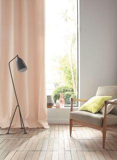 Un rideau pastel pour cultiver la douceur dan votre maison.