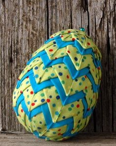 Looking for your next project? You're going to love Quilted Egg Layered Easter Ornament by designer darlkay.