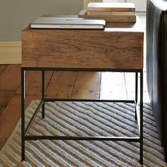 west elm Rustic Storage Side Table