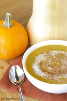 An easy and flavorful roasted butternut squash soup recipe with homemade stock, veggies, and plenty of spices. Coconut milk and real maple syrup are drizzled on top for extra creaminess and a hint of sweetness, along with a sprinkle of warm spices to bring the dish together. This dish is light (low carb), yet very filling from the squash! (Dairy-Free, Grain-Free, Gluten-Free & Paleo with Vegan options)