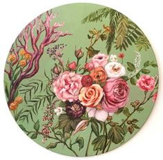 "Saatchi Art Artist Valeria Pesce; Painting, ""Spring affair su fondo verde"" #art"