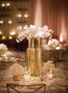 Exquisite Gold And White Wedding Ideas