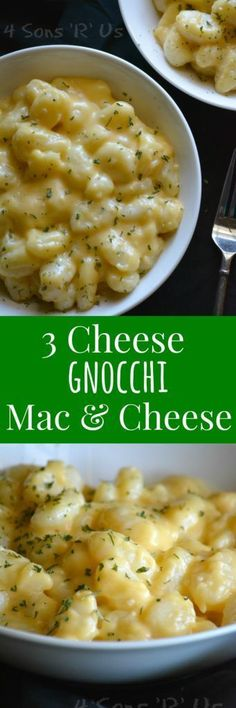 Easy. Peasy. And, yes, cheesy. (Sorry, had to go there. The rhyme was just too tempting.) This 3 Cheese Gnocchi Mac & Cheese is straight-up comfort food at it's best. Two of my favorite things-- fluffy potato dumplings & cheese, both equally indulgent, i