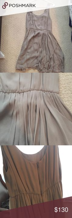 Grey Silk party dress Beautiful Alice and Olivia dress.  Lightweight.  Make an offer! Moving next weekend and everything needs to go. Alice + Olivia Dresses Mini