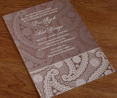 Our Devi wedding invitation set celebrates the timeless beauty of paisley patterns with an intricate floral design that will dazzle your guests. Customize this design with ink colors and font choices that speak to the tone of your affair.