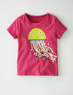 A sumptuous T-shirt with a generous helping of trims and sequins to give an exotic and luxurious effect - on well-made T-shirts which wear and wash brilliantly, of course. #Miniboden #Summer