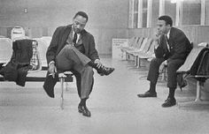 This was a candid shot of Dr. King and Abernathy as they rested in an airport. This pin was important because it showed that Dr. King got tired and I feel in this moment he was taking a moment to gather his thoughts or prepare himself for the next move. The picture also captures him with a cigarette in his hand but he never showcased this in public especially not in front of children.