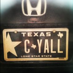 Check out some of the funny personalized license plates that are out there while you sit on the freeway during rush hour.  I love this one...