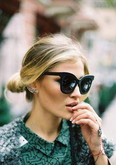 Kate Moss et ses incontournables #lunettes cat-eye !