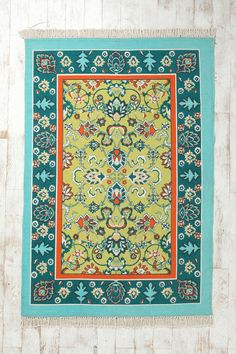 Magical Thinking Bazaar Handmade Rug cotton green 4x6 89.00 5x7 110.00