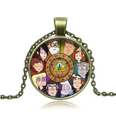Gravity Falls Wheel Necklace