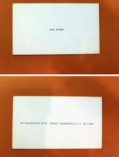 Eames Business Card