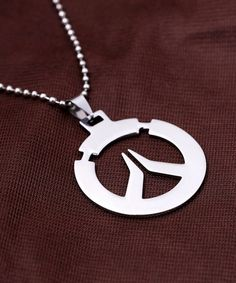 FPS GAME OW Logo Metal Dog Tag texture 3D double side Keychain Keyring ~silver \