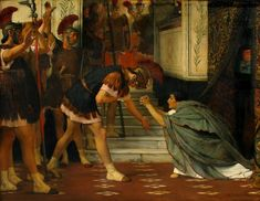 Sir Lawrence Alma-Tadema (Sir Lawrence Alma Tadema), Claudius Summoned (Rome)